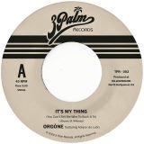 "Orgone-7"" It's My Thing"