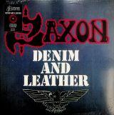 Saxon-Denim And Leather (Red Splatter vinyl)