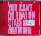 Zappa Frank You Can't Do That On Stage Anymore Vol. 5