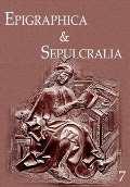 Artefactum Epigraphica & Sepulcralia 7